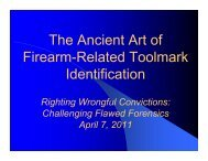 The Ancient Art of Firearm-Related Toolmark Identification - NACDL