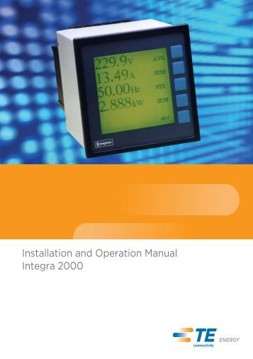 Integra 2000 Installation - Crompton Instruments