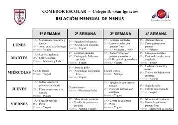 Comedor - Colegio Diocesano San Ignacio Ponferrada
