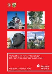 Meine Stiftung in der Stiftergemeinschaft - Sparkasse Bamberg