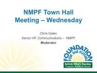 NMPF Town Hall Meeting Presentation (Part 1) - October 27, 2010