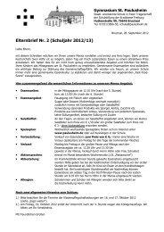 Elternbrief Nr. 2 (Schuljahr 2012/13) - Privates Gymnasium St ...