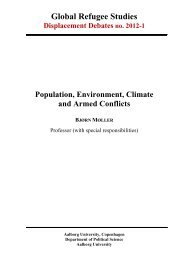 Population, Environment, Climate and Armed Conflicts