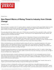 New Report Warns of Rising Threat to Industry from Climate Change