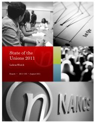 State of the Unions 2011 - Nanos Research