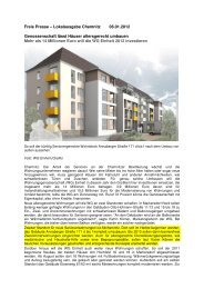 Freie Presse – Lokalausgabe Chemnitz 06.01 ... - Projektscheune