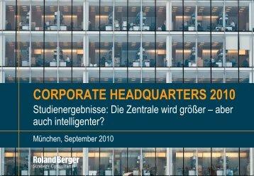 Corporate Headquarters 2010 (PDF, 3997 KB) - Roland Berger