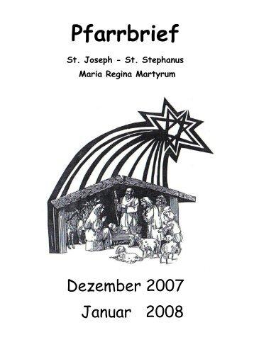 Gemeindebrief Dezember 2007 / Januar 2008 - St. Joseph ...