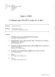 VR 1/12 - ZÁPIS ze dne 11.04.2012 - Fakulta zdravotnických studií