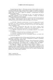 CURRICULUM VITAE (forma breve) Giuseppe Reguzzoni (Busto A ...