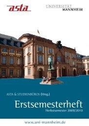 Erstsemesterheft - ZfL - Universität Mannheim