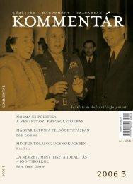 Kommentár 2006/3. szám (pdf)