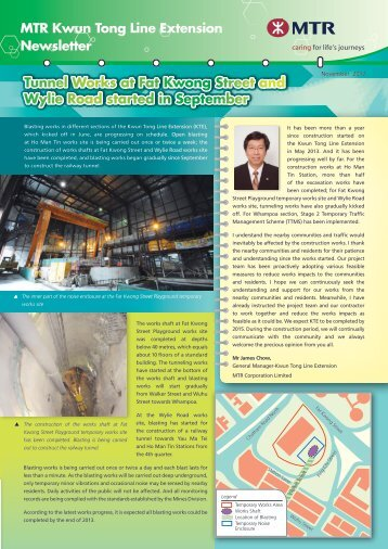 Kwun Tong Line Extension Newsletter - November 2012
