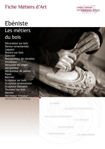 Fiche métier ébéniste Télécharger au format PDF - Institut National ...