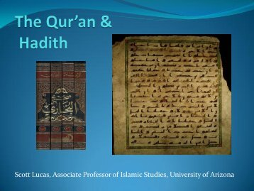 The Qur'an & Hadith - University of Arizona