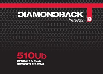 510Ub owner's manual cover - Diamondback Fitness