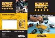 garantie-richtlinien für autorisierte service-partner - DeWalt