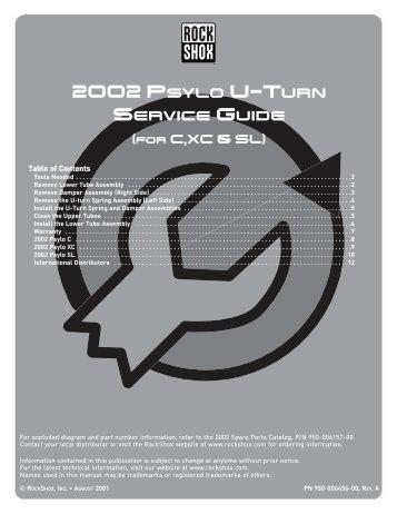 Rock Shox Xc 30 Service Manual