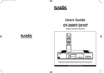 DT-2000T Manual - Radix