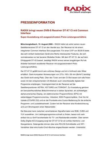 PRESSEINFORMATION - Radix