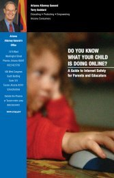 do you know what your child is doing online? - Arizona Attorney ...