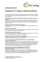 Hintergrund: 10 Fragen an Sabine Kauffmann