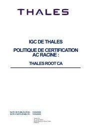 igc de thales politique de certification ac racine - Thales Group