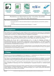 Richtlinie zur Beurteilung der visuellen Qualität von Glas für das ...