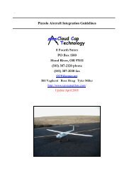 Technology Cloud Cap - Unmanned Aircraft & Drones
