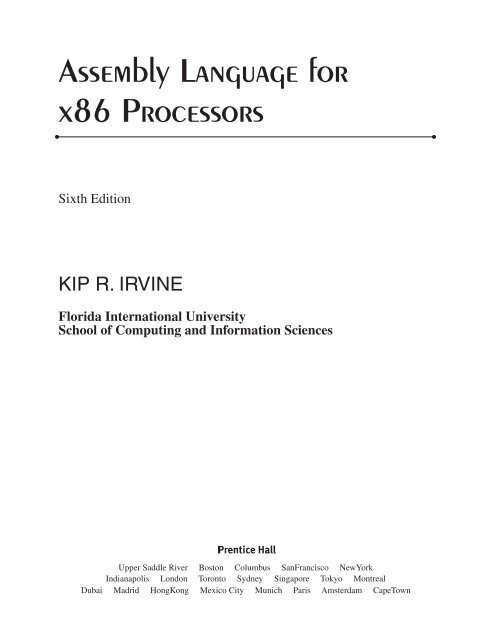Assembly Language for x86 Processors - Kip Irvine