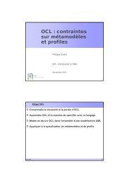 OCL : contraintes sur métamodèles et profiles