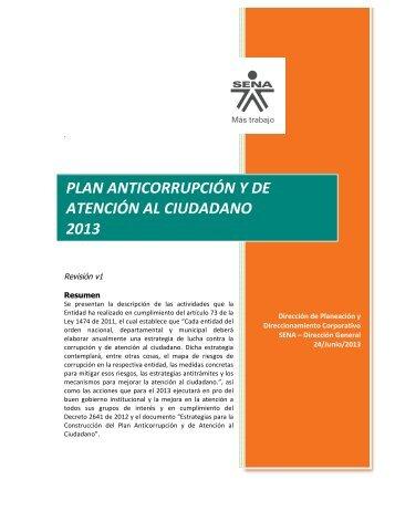 plan anticorrupción y de atención al ciudadano 2013 - Sena
