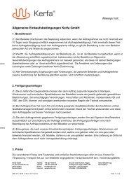 Allgemeine Einkaufsbedingungen Kerfa GmbH