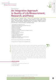 An integrative approach to quality of life measurement, reseach, and ...