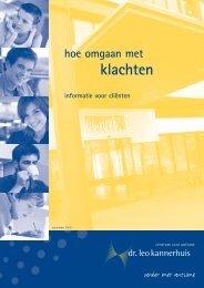 klachten - Dr. Leo Kannerhuis