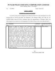 Nodal Officer - Punjab Police Housing Corporation
