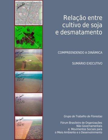 Relação entre cultivo de soja e desmatamento - Instituto ...