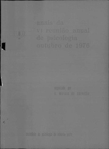 1976 - Sociedade Brasileira de Psicologia