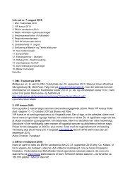 Info-net nr. 7, august 2010 1. DM i Traktortræk 2010 Østlige øer er i ...