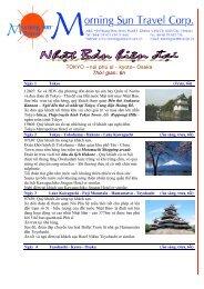 Chuong trinh tham quan Nhat Ban ( 6 D ) - Morning Sun Travel