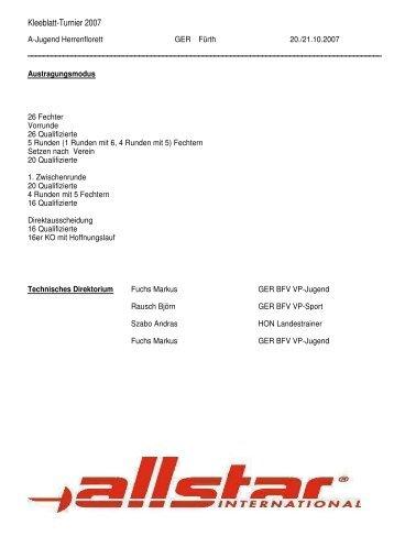 Kleeblatt-Turnier 2007