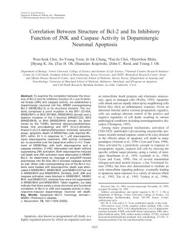 Correlation Between Structure of Bcl-2 and Its Inhibitory Function of ...