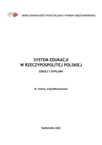 Joanna Jung-Miklaszewska Warszawa 1999-03-05 - Biuro ...