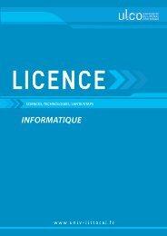 Licence informatique - Université du Littoral Côte d'Opale