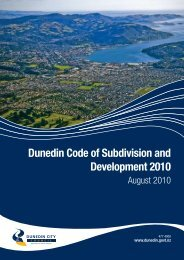 Dunedin Code of Subdivision and Development 2010