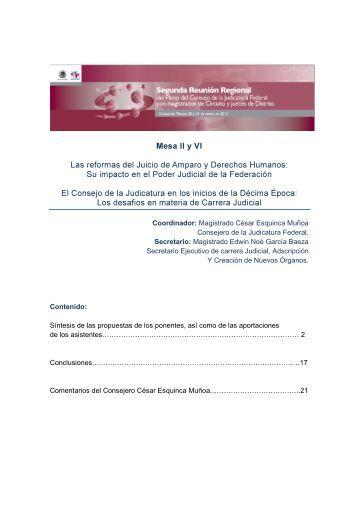 Mesa II y VI Las reformas del Juicio de Amparo y Derechos Humanos