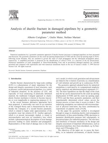 fracture mechanics research papers Find information about academic papers by weblogrcom fracture mechanics name stars fracturemechanics is an active research field that is currently advancing on.