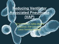 Reducing Ventilator Associated Pneumonia (VAP) - HAI Watch