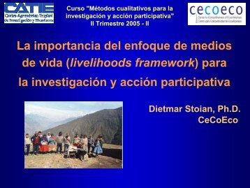 La importancia del enfoque de medios de vida (livelihoods ...