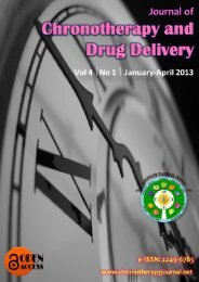 Editorial / Advisory Board - Journal of Chronotherapy and Drug ...